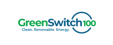green switch 100 logo - clean renewable energy